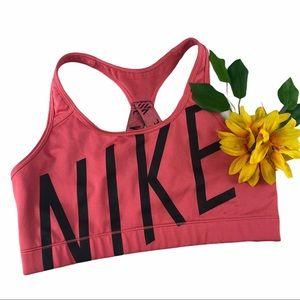 Nike Dri-Fit Pink Black Racerback Sports Bra